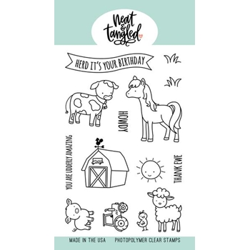 Neat and Tangled BARNYARD BUDDIES Clear Stamps NAT477*