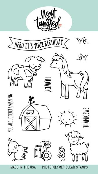 Neat and Tangled BARNYARD BUDDIES Clear Stamps NAT477* zoom image