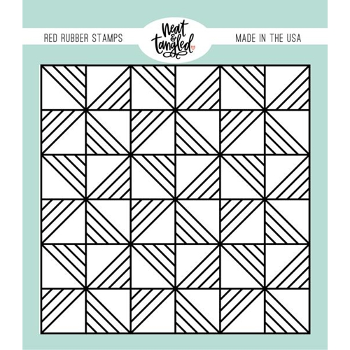 Neat and Tangled QUILTED BACKGROUND Cling Stamp NAT476 Preview Image