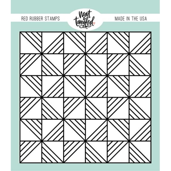 Neat and Tangled QUILTED BACKGROUND Cling Stamp NAT476