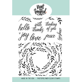 Neat and Tangled FOLIAGE FRAME Clear Stamps NAT474