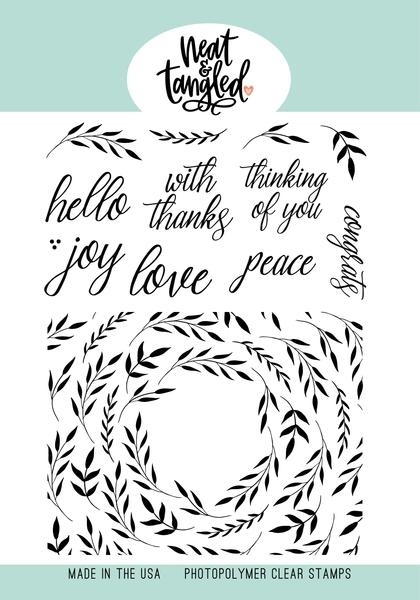 Neat and Tangled FOLIAGE FRAME Clear Stamps NAT474 zoom image