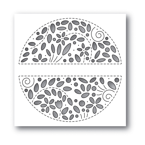 RESERVE Simon Says Stamp FILIGREE MESSAGE CIRCLE Wafer Die s649 Celebrate You Preview Image