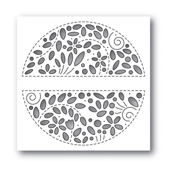 Simon Says Stamp FILIGREE MESSAGE CIRCLE Wafer Die s649 Celebrate You