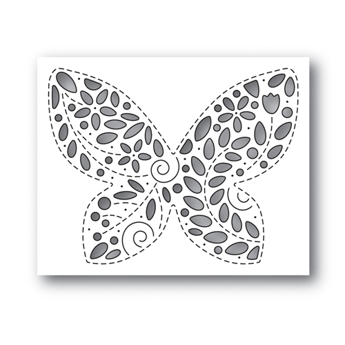 Simon Says Stamp FILIGREE BUTTERFLY Wafer Die s648 Celebrate You Preview Image
