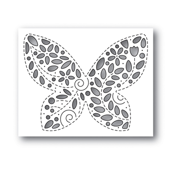 Simon Says Stamp FILIGREE BUTTERFLY Wafer Die s648 Celebrate You