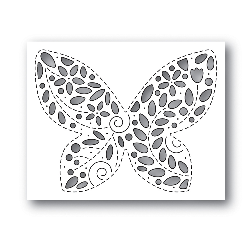 Simon Says Stamp FILIGREE BUTTERFLY Wafer Die s648 Celebrate You zoom image