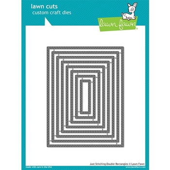 Lawn Fawn JUST STITCHING DOUBLE RECTANGLES Die Cuts LF1993