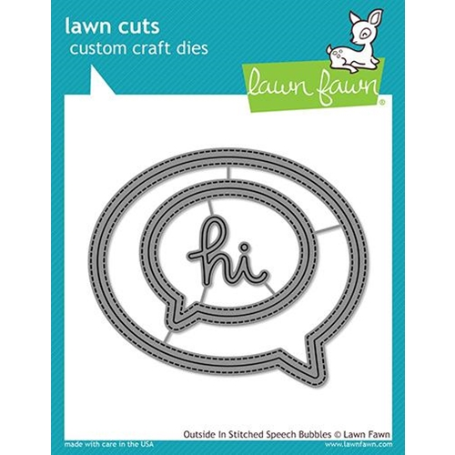Lawn Fawn OUTSIDE IN STITCHED SPEECH BUBBLES Die Cuts LF1992 Preview Image