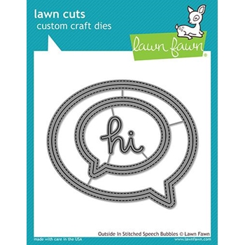Lawn Fawn OUTSIDE IN STITCHED SPEECH BUBBLES Die Cuts LF1992