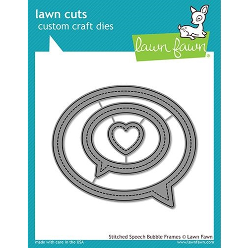 Lawn Fawn STITCHED SPEECH BUBBLE FRAMES Die Cuts LF1991 Preview Image