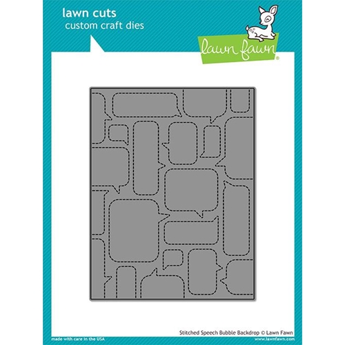 Lawn Fawn STITCHED SPEECH BUBBLE BACKDROP Die Cut LF1990 Preview Image