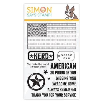 Simon Says Clear Stamps PATRIOTIC SERVICE sss101981 Celebrate You