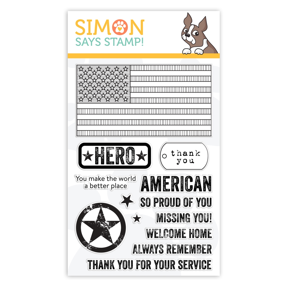 Simon Says Clear Stamps PATRIOTIC SERVICE sss101981 Celebrate You zoom image