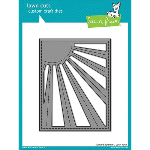 Lawn Fawn SUNRAY BACKDROP Die Cut LF1988 Preview Image