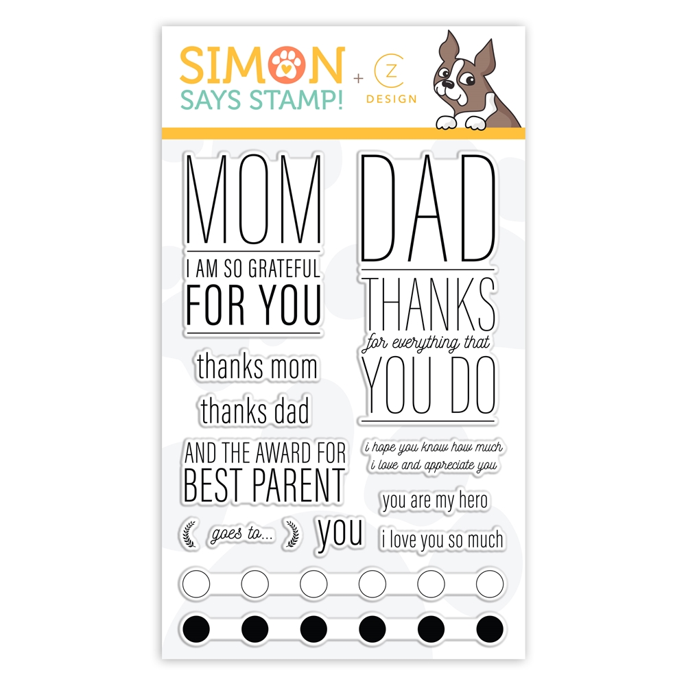 CZ Design Clear Stamps PARENTAL PROPS cz32 Celebrate You zoom image