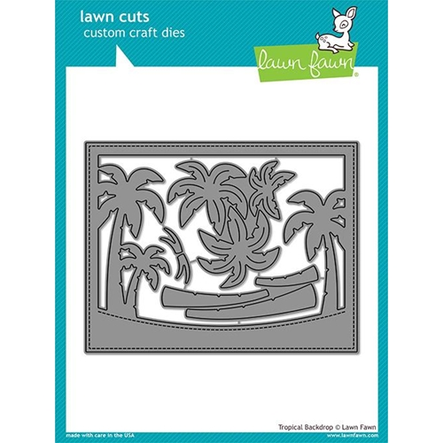 Lawn Fawn TROPICAL BACKDROP Die Cuts LF1986 Preview Image
