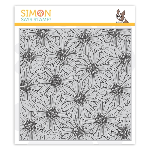 Simon Says Cling Stamp GERBERA DAISY BACKGROUND sss102014 Celebrate You Preview Image
