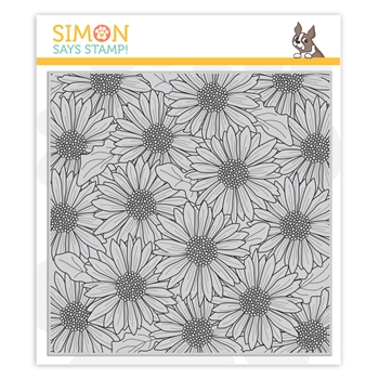 Simon Says Cling Stamp GERBERA DAISY BACKGROUND sss102014 Celebrate You