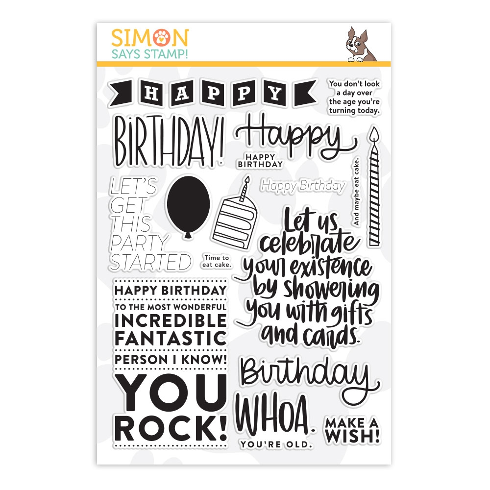 Simon Says Clear Stamps BIG BIRTHDAY GREETINGS sss201984 Celebrate You zoom image