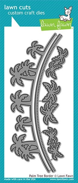 RESERVE Lawn Fawn PALM TREE BORDER Die Cuts LF1981 zoom image