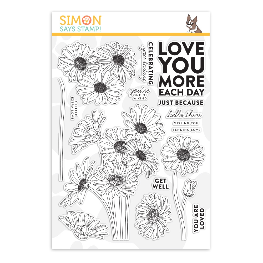 Simon Says Clear Stamps DAISY BOUQUET sss202008 Celebrate You zoom image