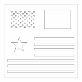 Simon Says Stamp Stencil AMERICAN FLAG ssst121441 Celebrate You