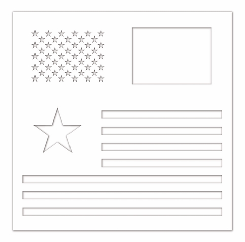 Simon Says Stamp Stencil AMERICAN FLAG ssst121441 Celebrate You zoom image