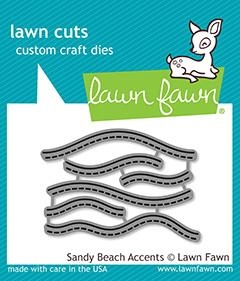 Lawn Fawn SANDY BEACH ACCENTS Die Cuts LF1980 Preview Image