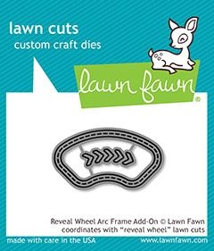 Lawn Fawn REVEAL WHEEL ARC FRAME ADD ON Die Cuts LF1977