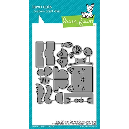 Lawn Fawn TINY GIFT BOX CAT ADD-ON Die Cuts LF1976 Preview Image