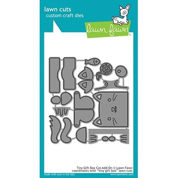 Lawn Fawn TINY GIFT BOX CAT ADD-ON Die Cuts LF1976