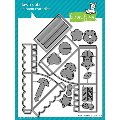 Lawn Fawn CAKE SLICE BOX Die Cuts LF1973 Preview Image
