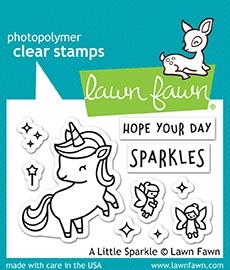 Lawn Fawn A LITTLE SPARKLE Clear Stamps LF1818 Preview Image
