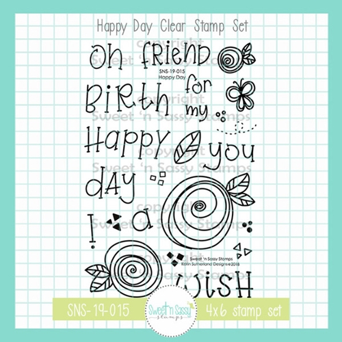 Sweet 'N Sassy HAPPY DAY Clear Stamp Set sns-19-015 Preview Image