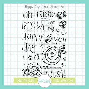 Sweet 'N Sassy HAPPY DAY Clear Stamp Set sns-19-015