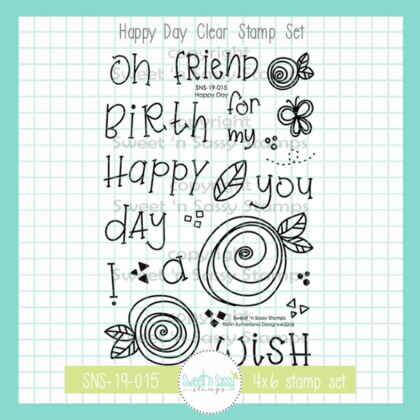 Sweet 'N Sassy HAPPY DAY Clear Stamp Set sns-19-015 zoom image