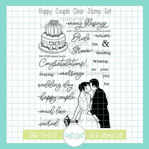 Sweet 'N Sassy HAPPY COUPLE Clear Stamp Set sns-19-020 Preview Image
