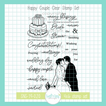 Sweet 'N Sassy HAPPY COUPLE Clear Stamp Set sns-19-020