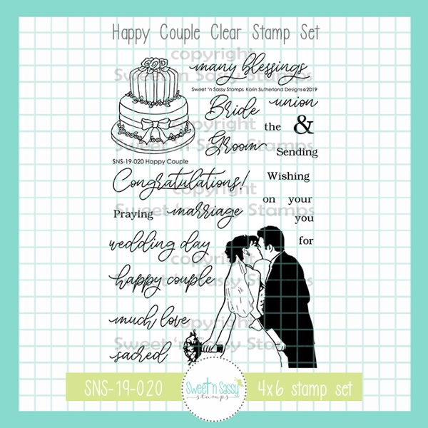 Sweet 'N Sassy HAPPY COUPLE Clear Stamp Set sns-19-020 zoom image