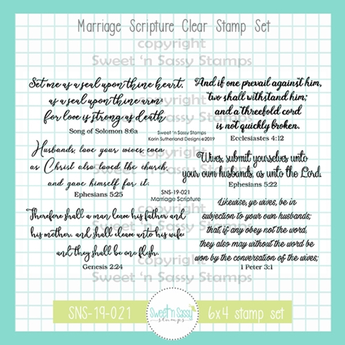 Sweet 'N Sassy MARRIAGE SCRIPTURE Clear Stamp Set sns-19-021 Preview Image