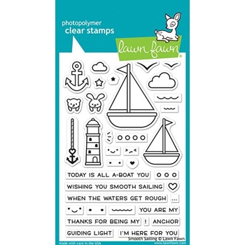 Lawn Fawn SMOOTH SAILING Clear Stamps LF1965