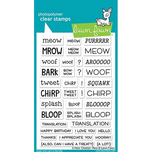 Lawn Fawn CRITTER CHATTER PETS Clear Stamps LF1964 Preview Image