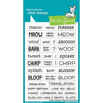 Lawn Fawn CRITTER CHATTER PETS Clear Stamps LF1964