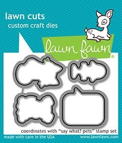 Lawn Fawn SAY WHAT PETS Die Cuts LF1963
