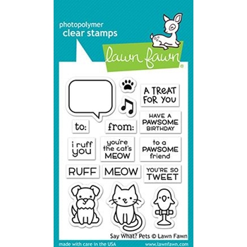 Lawn Fawn SAY WHAT PETS Clear Stamps LF1962