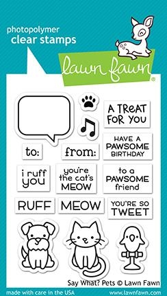 Lawn Fawn SAY WHAT PETS Clear Stamps LF1962 zoom image