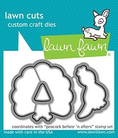 Lawn Fawn PEACOCK BEFORE 'N AFTERS Die Cuts LF1961