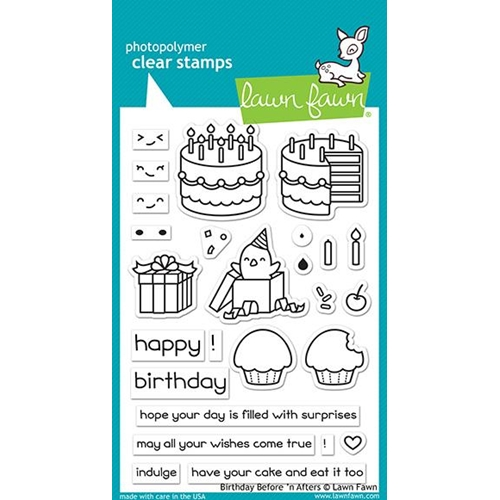 Lawn Fawn Birthday Before 'N' Afters Clear Stamp Set