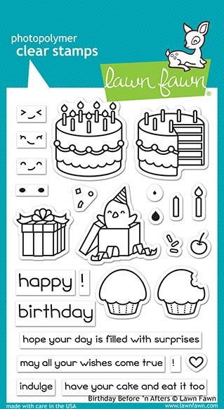 Lawn Fawn BIRTHDAY BEFORE 'N AFTERS Clear Stamps LF1958 zoom image